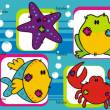 Sea Cartoon Animals